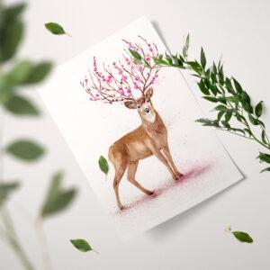 Jeleń – ilustracja