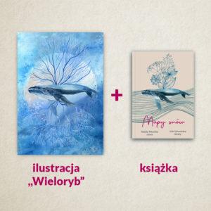 """Zestaw """"Mapy snów"""" – książka oraz ilustracja """"Wieloryb"""""""