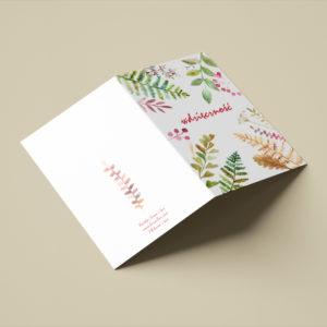 """Karta składana """"Wdzięczność"""" – A6 lub A5"""