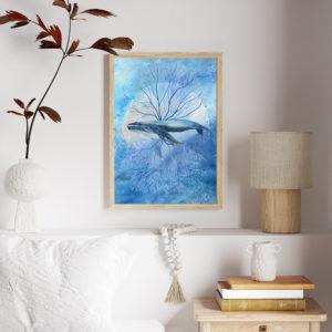 Wieloryb – ilustracja – plakat